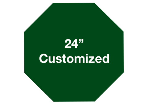 "CUSTOMIZED - 24"" Green Octagon - Set of 2"