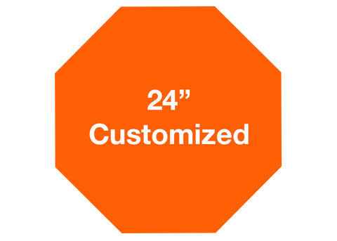 "CUSTOMIZED - 24"" Orange Octagon - Set of 2"