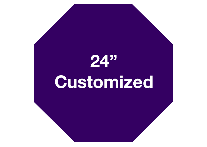 Customized Purple Octagon Floor Signs