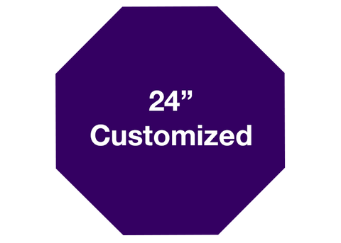 "CUSTOMIZED - 24"" Purple Octagon - Set of 2"