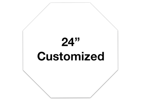 "CUSTOMIZED - 24"" White Octagon - Set of 2"