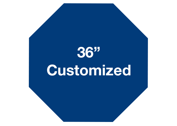 Octagon Blue Customized Warehouse Floor Signs