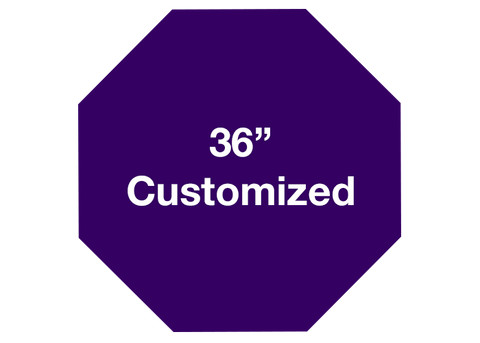 "CUSTOMIZED - 36"" Purple Octagon - Set of 1"