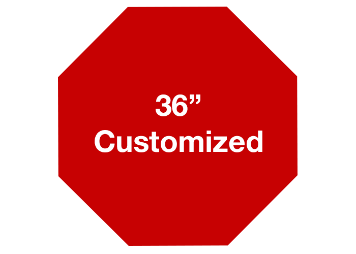 Customized Red Octagon Floor Signs - Mighty Line