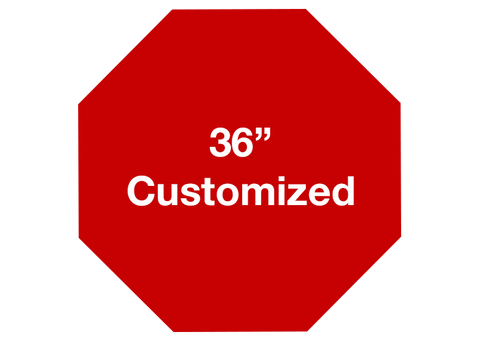 "CUSTOMIZED - 36"" Red Octagon - Set of 1"