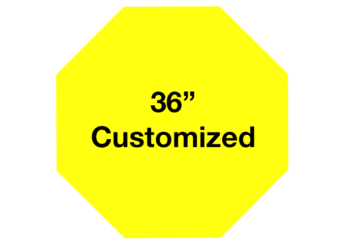 Octagon Yellow Customized Adhesive Floor Signs