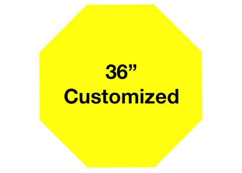 "CUSTOMIZED - 36"" Yellow Octagon - Set of 1"