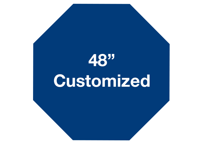 "Octagon 48"" Customized Floor Signs - Mighty Line"
