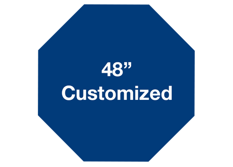 "CUSTOMIZED - 48"" Blue Octagon - Set of 1"