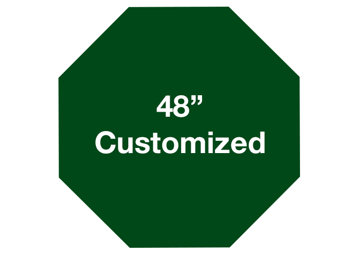 Octagon Green Customized Warehouse Floor Signs