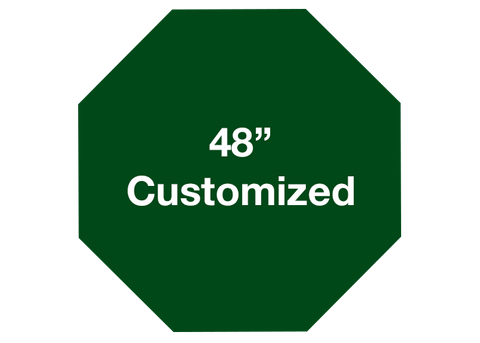 "CUSTOMIZED - 48"" Green Octagon - Set of 1"