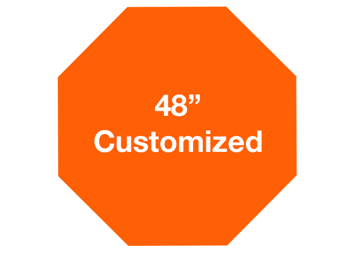 Customized Orange Octagon Industrial Floor Decals