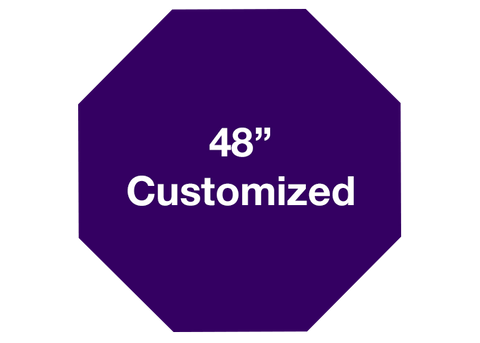"CUSTOMIZED - 48"" Purple Octagon - Set of 1"