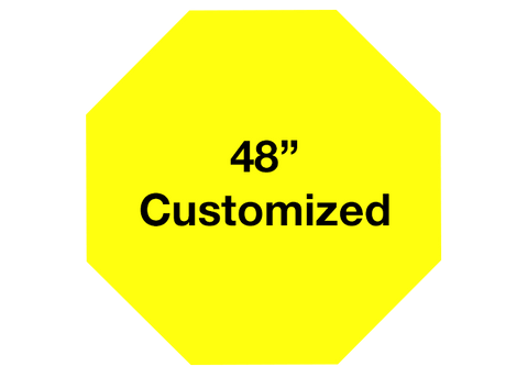 "CUSTOMIZED - 48"" Yellow Octagon - Set of 1"