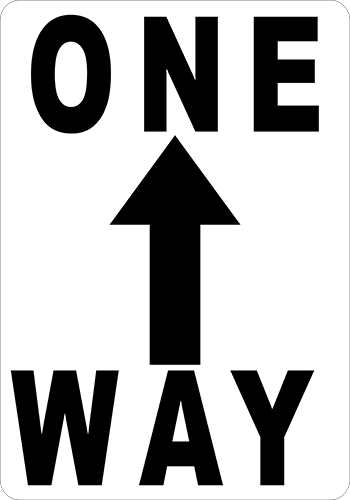 One Way Floor Sign