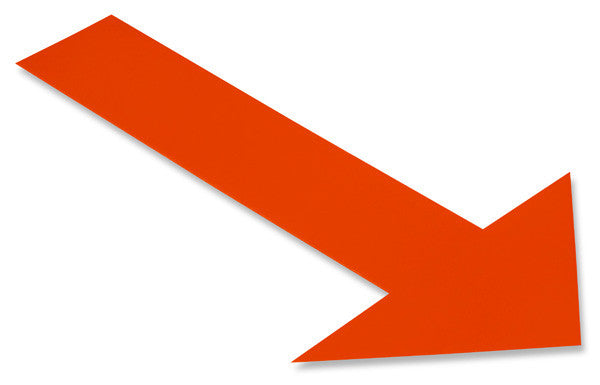 Solid ORANGE Arrow - Pack of 50