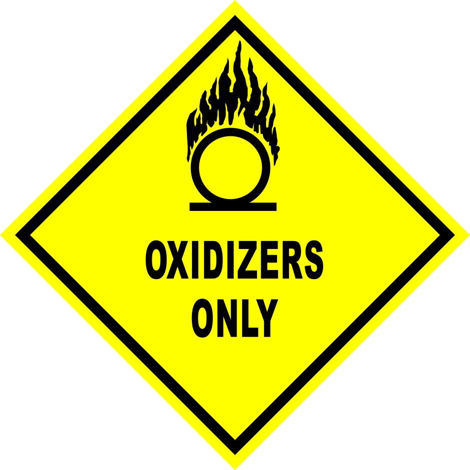 Oxidizers Only Floor Sign