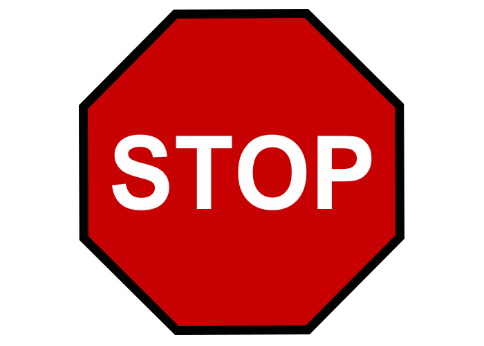 Stop Sign w/ Black Border Custom Safety Floor Sign