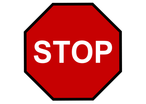 CUSTOMIZED - Stop Sign with Black Border