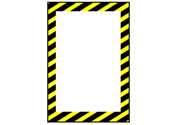 Vertical Caution Sign Custom Floor Tape Marking