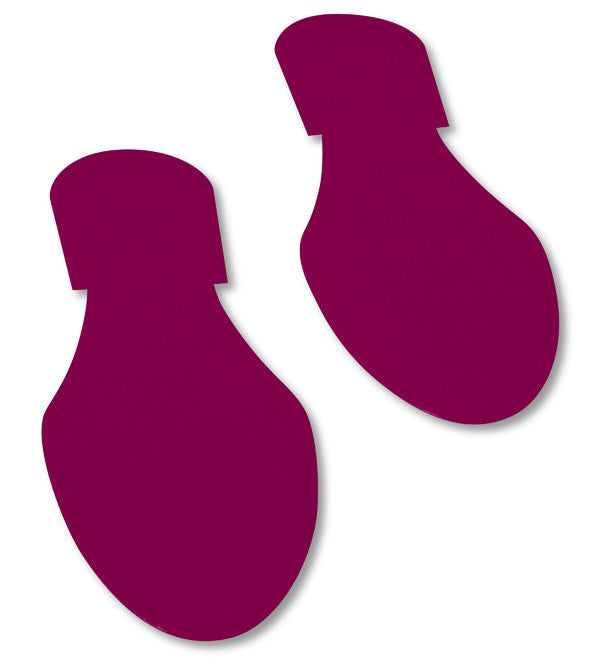 Mighty Line Purple Footprint Floor Decals