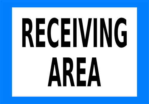 Receiving Area Floor Sign