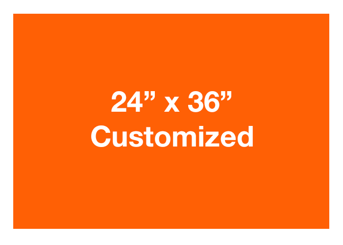Mighty Line Custom Rectangle Orange Floor Signs