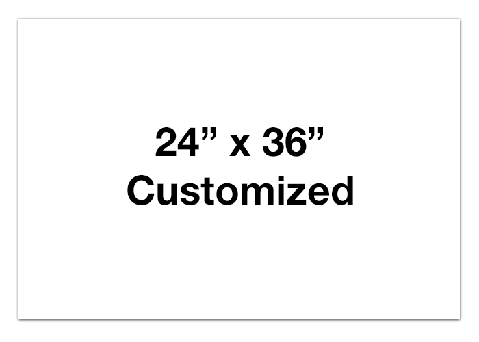 "CUSTOMIZED - 24"" x 36"" Horizontal White Rectangle - Set of 2"