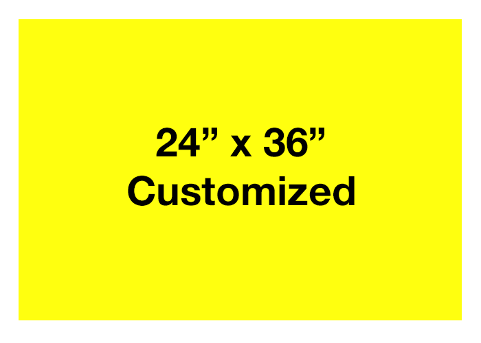 Yellow Rectangle Floor Signs, Horizontal
