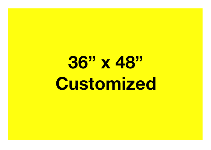 Rectangle Yellow Customized Adhesive Floor Signs