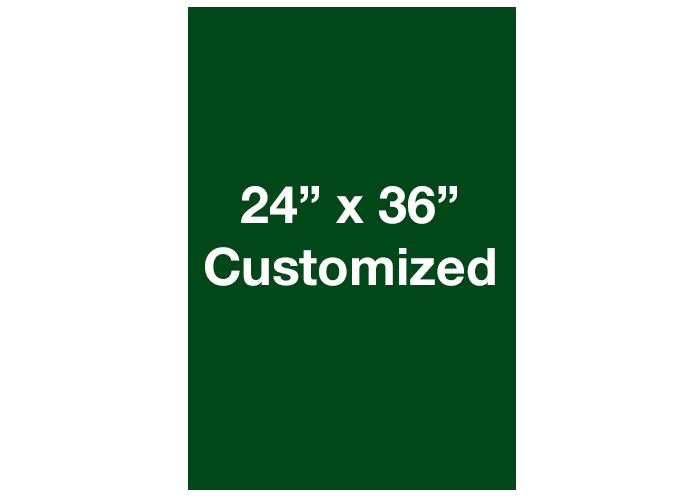 Green Rectangle Adhesive Floor Signs, Vertical