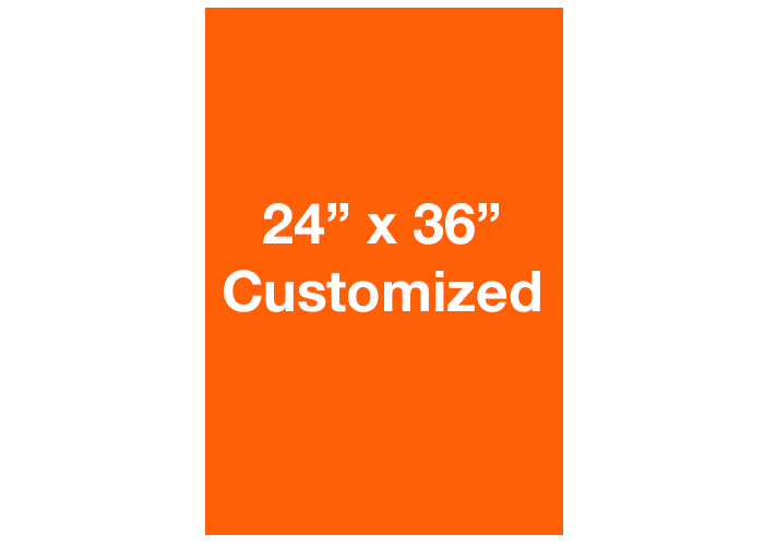 Rectangle Orange Customized Warehouse Floor Signs