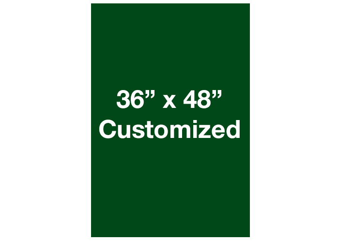 Mighty Line Custom Rectangle Green Floor Signs