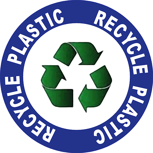Recycle Plastic Floor Sign
