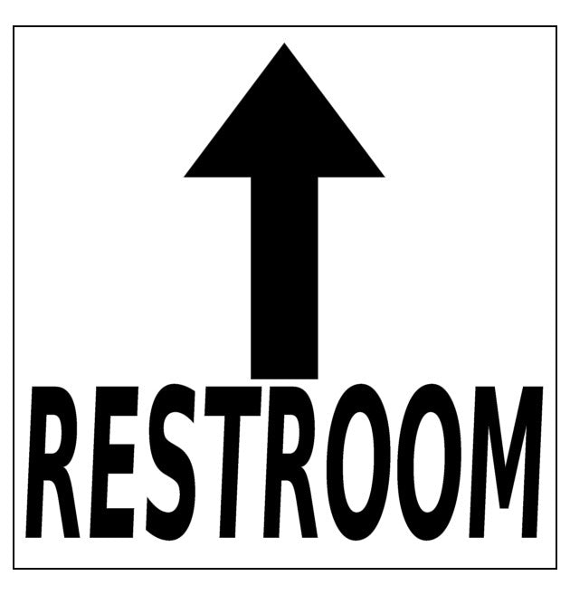 Mighty Line 24 Quot Restroom Ahead Arrow Floor Sign