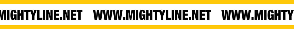 Mighty Line 6 Inch Repeating Message Floor Tape, Yellow