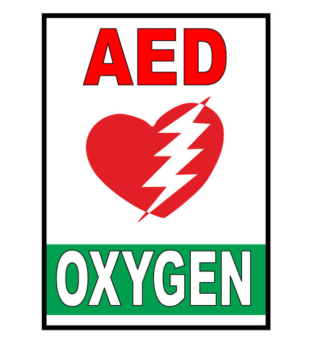 Aed Oxygen Floor Sign Industrial Floor Tape