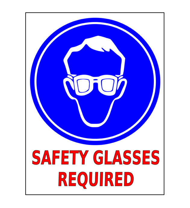 "24"" Safety Glasses Required Floor Sign"