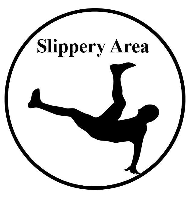"24"" Slippery Area Ahead Floor Sign"