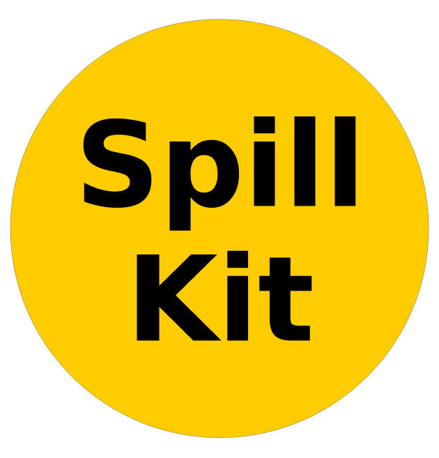 "24"" Spill Kit Available Here Floor Sign"