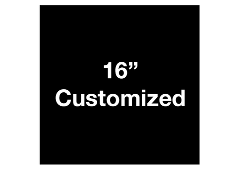 "CUSTOMIZED - 16"" Black Square - Set of 3"