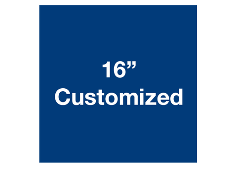 "CUSTOMIZED - 16"" Blue Square - Set of 3"
