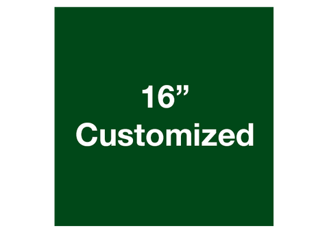 "CUSTOMIZED - 16"" Green Square - Set of 3"