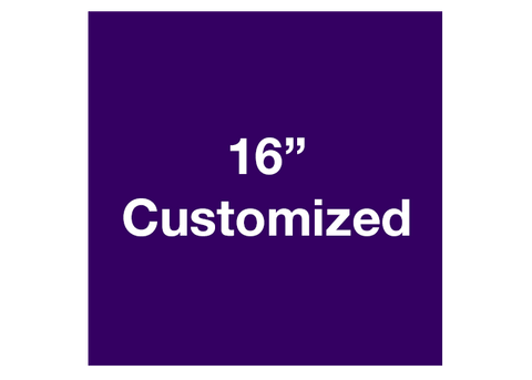 "CUSTOMIZED - 16"" Purple Square - Set of 3"
