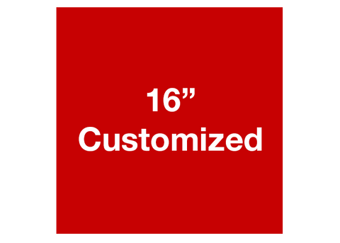 "CUSTOMIZED - 16"" Red Square - Set of 3"