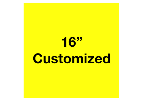 "CUSTOMIZED - 16"" Yellow Square - Set of 3"