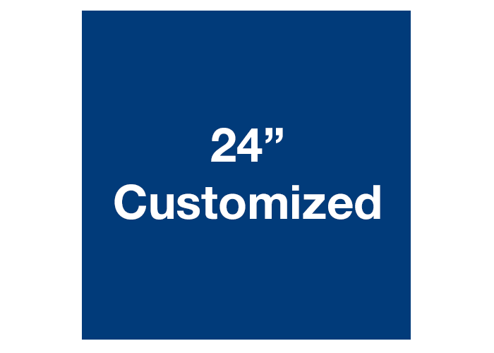 "Blue 24"" Square Custom Warehouse Floor Tape Sign"