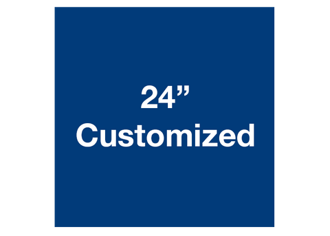 "CUSTOMIZED - 24"" Blue Square - Set of 2"