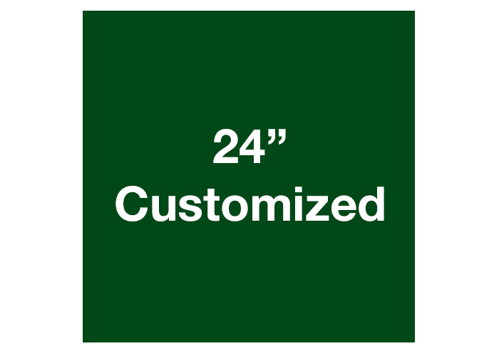 "24"" Green Square Custom Safety Floor Tape Sign"
