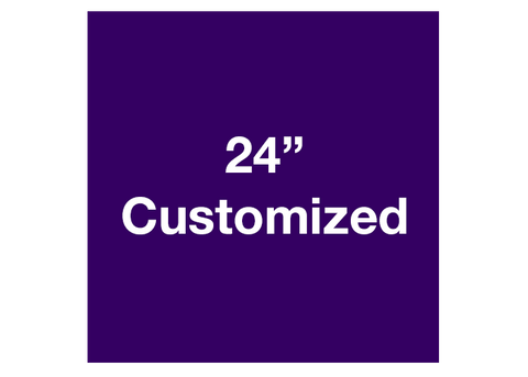 "CUSTOMIZED - 24"" Purple Square - Set of 2"